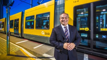 Gold Coast Mayor Tom Tate announces he will push ahead with extending the Gold Coast light rail to Gold Coast Airport at Tugun.