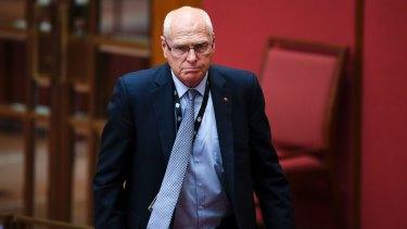Jim Molan in the Senate on Wednesday.
