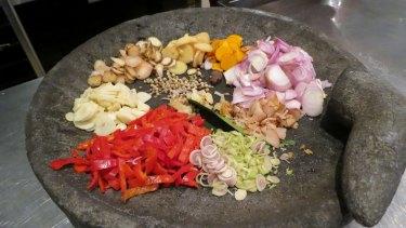 Balinese spice mix (bumbu).
