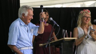Bob Hawke joked a 'Hawke's Lager' could be on the way.