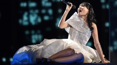 Dami Im performs during the first dress rehearsal for the Eurovision Song Contest final in Stockholm.