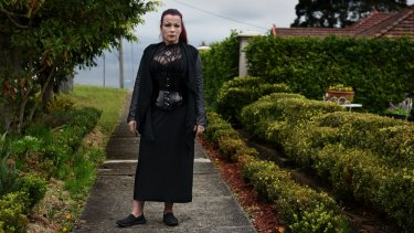 Sydney goth Wallemina Von Dutchland likes being looked at when she goes shopping in the suburbs.