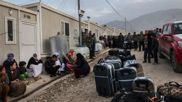 A camp for Yazidi refugees, some of whom were about to leave for resettlement in Germany.