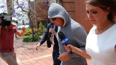 Jesse George, pictured at Campbelltown Courthouse, was fined and put on a good behaviour bond.
