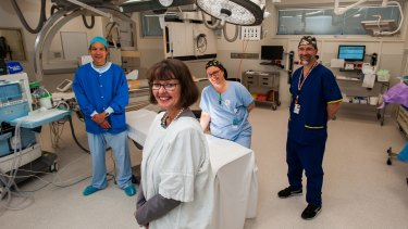 Dr Elizabeth Porritt CEO (front) with Dr Don Lu, Nurse Annie Macleod and vascular surgeon Dr Wendell Neilson.