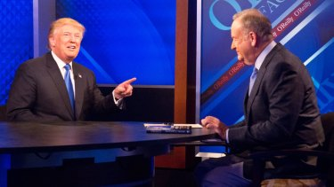 Donald Trump with Bill O'Reilly on Fox's news talk show The O'Reilly Factor.