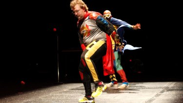 Brian Tilley and David Woods in Back To Back Theatre's Super Discount.