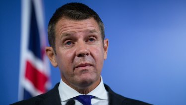 Mr Baird's emotions show at the press conference where he announced his decision to leave politics.