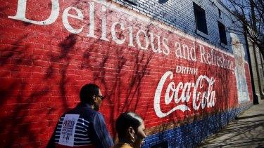 A sign in Atlanta, the home of Coke.