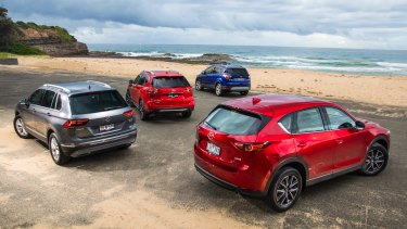 The Mazda CX-5, Ford Escape and Nissan X-Trail are among Australia's top-selling cars.