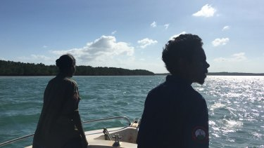 Marine rangers off Arafura Swamp, in east Arnhem Land.