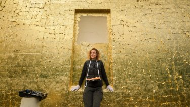 Golden age: Melbourne artist Joanna Buckley is transforming the Providence building at Abbotsford Convent.