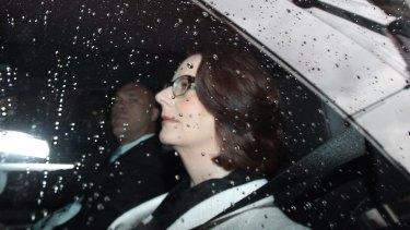 Former prime minister Julie Gillard arrives at the royal commission into trade union corruption in September.