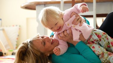 """I'm not doing it for the money"": Susie Balderstone with her granddaughter, Matilda."
