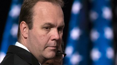 Then Trump campaign aide Rick Gates at the Republican National Convention in 2016.