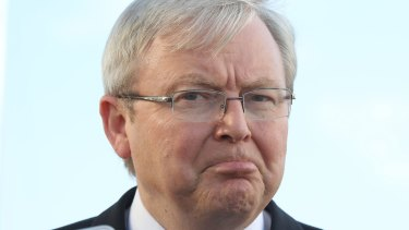 Kevin Rudd has attacked Malcolm Turnbull for having proposed that no asylum seeker or refugee will ever re-enter Australia if they first entered by boat.