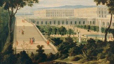 View of Versailles from the Orangerie by Etienne Allegrain.