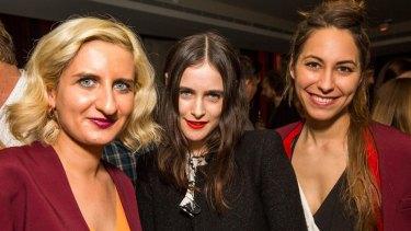 Gorkem Hayta, designer Anna Plunkett and director Marie Schuller at the