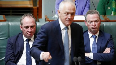 Have Malcolm Turnbull and Christopher Pyne cancelled a week of Parliament so the government can survive a week with Barnaby Joyce and, potentially, other MPs in the House?