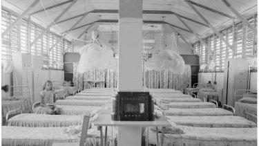 Dormitory at Retta Dixon Home, Darwin, 1958.