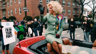 Rory O'Neill as his alter ego Panti Bliss campaigning for the gay marriage plebiscite in Ireland.