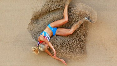 Darya Klishina at the world athletics championships in Beijing last year.