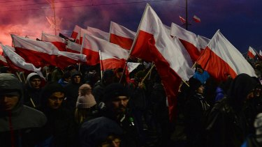 The annual march has grown in recent years as Poland moves further to the right.
