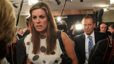 Peta Credlin with Tony Abbott in 2012.