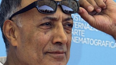 Acclaimed Iranian director Abbas Kiarostami at the Venice Film Festival premiere of his film My sweet Shirin in 2008.