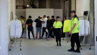 Inside Kanye West's temporary store in Bondi.