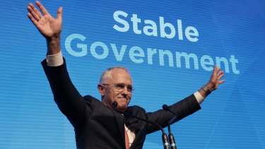 Prime Minister Malcolm Turnbull makes a pitch on government stability at his campaign launch.