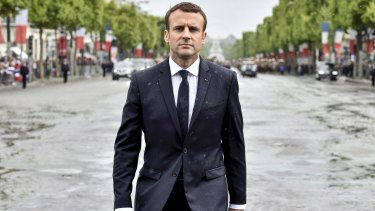 Newly elected French President Emmanuel now he needs to prove he's more than PR.