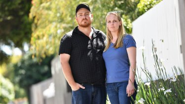 Worried parents Phillip and Jessica Jackson, whose daughter Grace is carrying the VRE superbug.