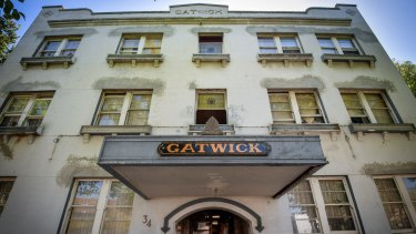 The Gatwick Hotel has a prime location on Fitzroy Street, St Kilda.
