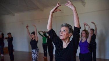 Judy Leech during dance class at Ausdance.