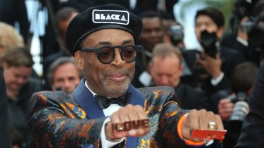 Director Spike Lee poses at the premiere of <I>BlacKkKlansman</I> at Cannes in May.