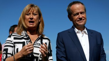 Opposition Leader Bill Shorten with Ms Elliot earlier this month.