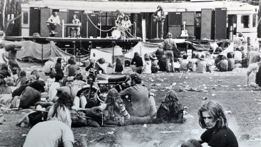 Greg Quill Country Radio performing in 1971 at Fairlight, near Mittagong.