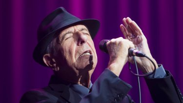 Leonard Cohen performing at the Sydney Entertainment Centre in 2013.