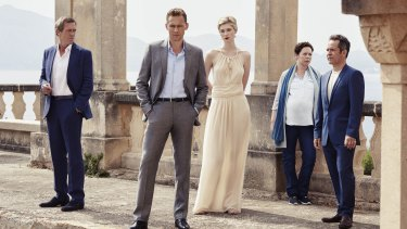 The cast of <i>The Night Manager</i>. The series is directed by Susanne Bier.