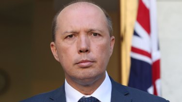 Australia's Immigration Minister Peter Dutton.