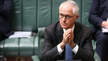 Prime Minister Malcolm Turnbull's support has dropped below Tony Abbott's support before he was dumped.