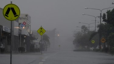 Bowen's centre was a virtual ghost town as the storm bore down.