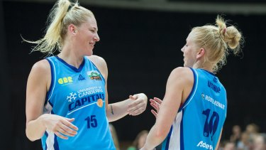 TV coverage ensures the likes of Canberra Capitals Lauren Jackson and Abby Bishop get exposure.