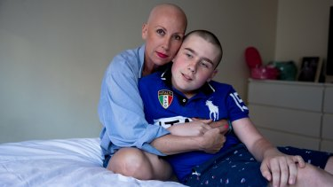 Tina Holden, 48, with her son Maddison, 12.