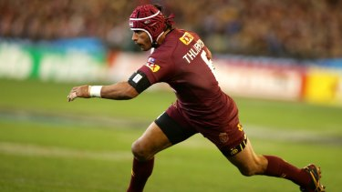 The sort of mass coverage helmet worn by rugby league star Johnathan Thurston might be the next step.