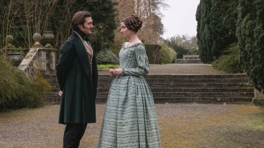 David Oakes as Prince Ernest and Margaret Clunie as Duchess Harriet Sutherland in Victoria.