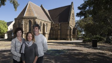 Christ Church St Kilda, Peter Craig, Catriona Sinclair (middle/with scarf) and Maggie Macdonald.