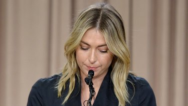 Maria Sharapova is facing a potentially career-ending ban from tennis.