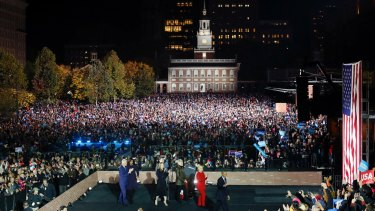 The crowd at Independence Mall in Philadelphia.